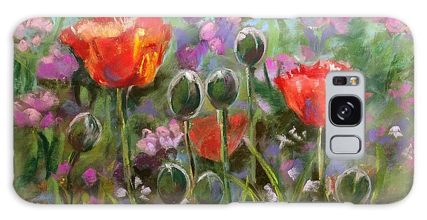 Red Poppies Galaxy Case by Julie Maas