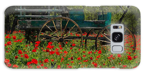 Red Poppies With Wagon Galaxy Case