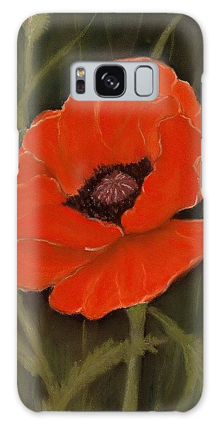 Red Poppy Galaxy Case by Anastasiya Malakhova