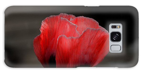 Red Poppy Flower Galaxy Case