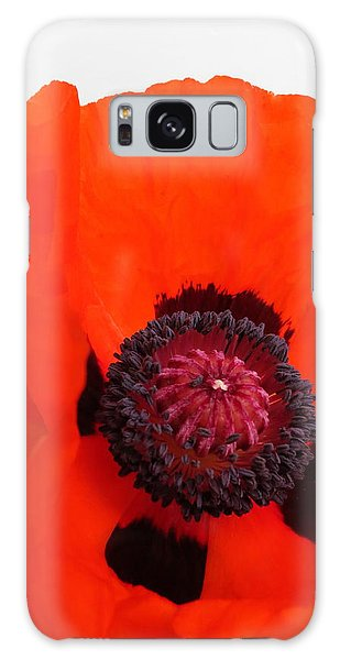 Red Poppy Galaxy Case