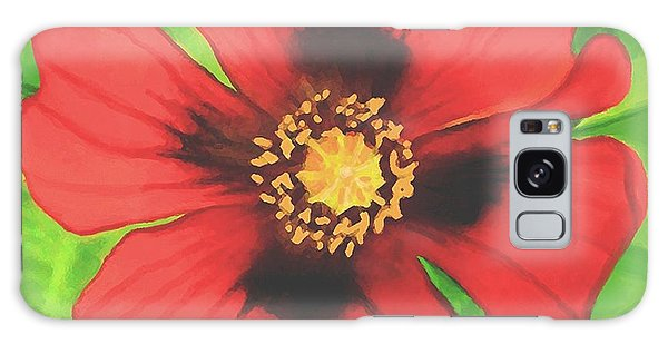 Red Poppy Galaxy Case by Sophia Schmierer