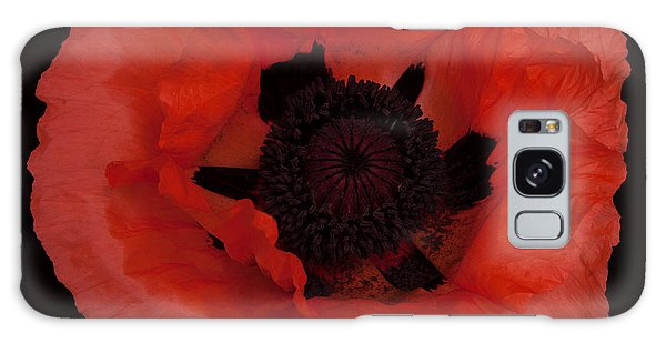 Red Poppy Galaxy Case by Susan Rovira
