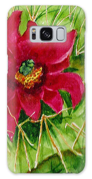 Red Prickly Pear Galaxy Case