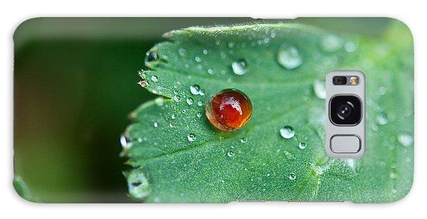 Red Rain Drop Galaxy Case by Sabine Edrissi