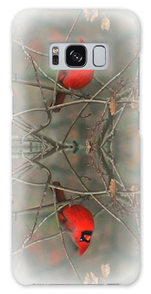 Red Reflection Galaxy Case by Barbara S Nickerson