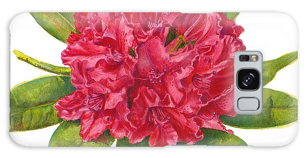 Red Rhododendron  Galaxy Case
