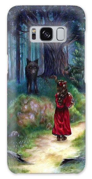 Red Riding Hood Galaxy Case by Heather Calderon