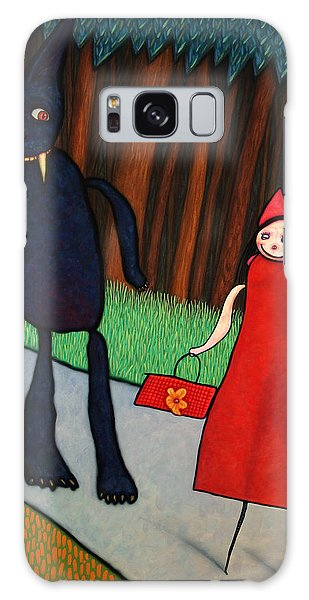 Fairy Galaxy S8 Case - Red Ridinghood by James W Johnson