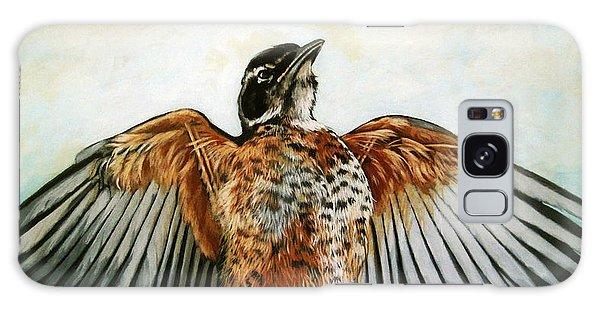 Red Robin Bird Realistic Animal Art Original Painting Galaxy Case