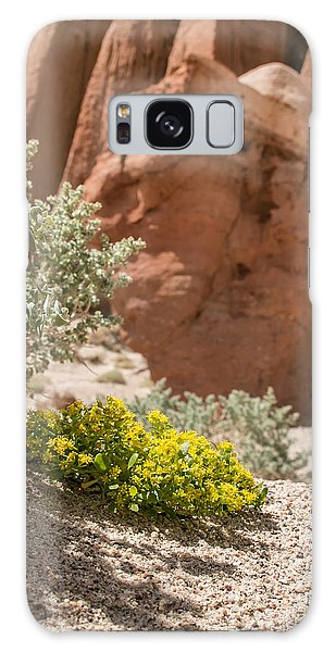Red Rock Blooming Galaxy Case