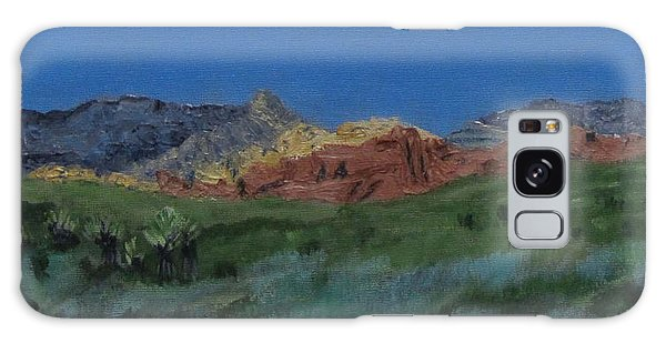 Red Rock Canyon Panorama Galaxy Case