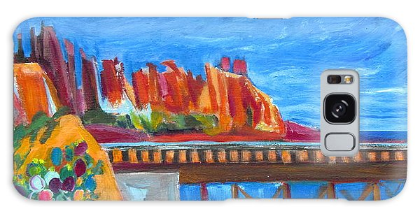 Red Rocks And Railroad Trestle Galaxy Case by Betty Pieper