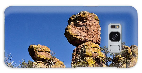 Red Rocks In The Chiracahua Mountains Galaxy Case by Diane Lent