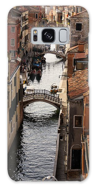 Red Roofs Of Venice Galaxy Case