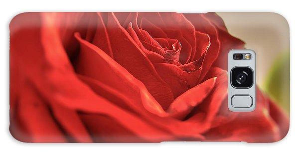 Red Rose Closeup Galaxy Case