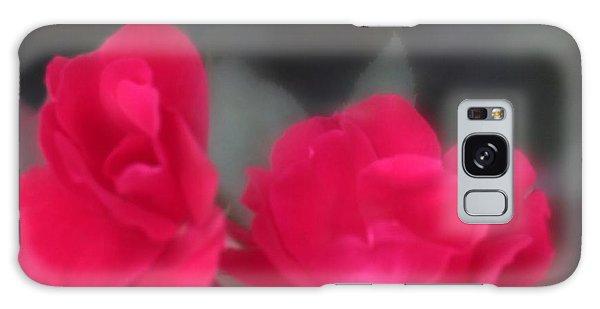 Red Rose Harmony Galaxy Case by Mary Lou Chmura
