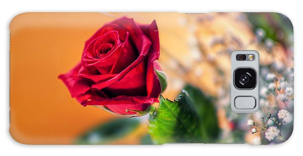 Red Rose Of Love Galaxy Case