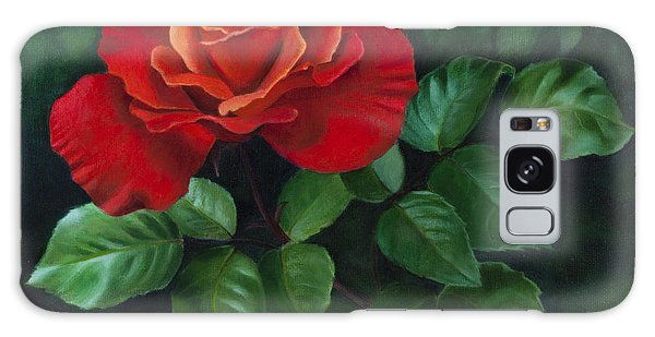 Red Rose - Oil Painting On Canvas Galaxy Case