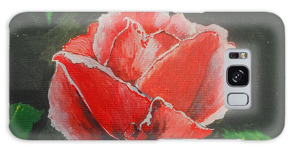 Galaxy Case - Red Rose Study by Kathy Spall