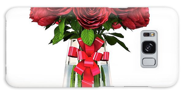 Vase Of Flowers Galaxy Case - Red Roses In A Vase by Leonello Calvetti