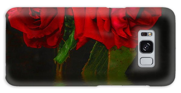 Red Roses Reflected Galaxy Case by Joyce Dickens