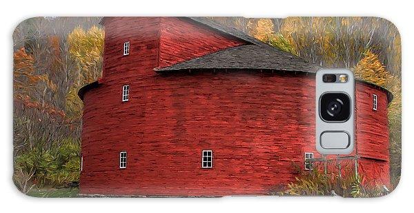Red Round Barn Galaxy Case