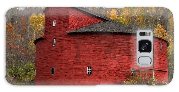 Red Round Barn Galaxy Case