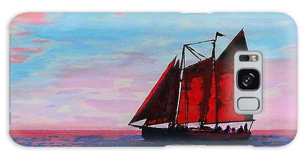 Red Sails On The Chesapeake - New Multimedia Acrylic/oil Painting Galaxy Case