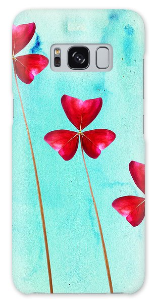 Red Shamrock Trio Galaxy Case