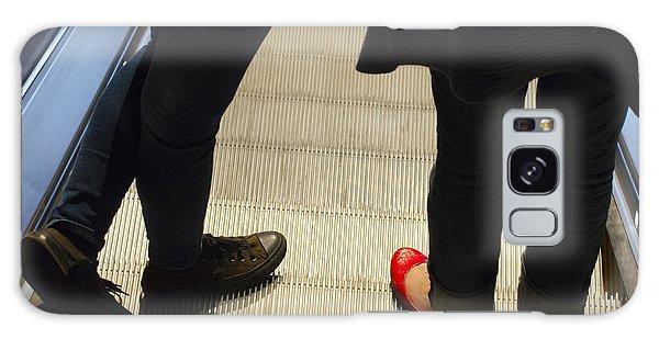 Red Shoe On Escalator Galaxy Case