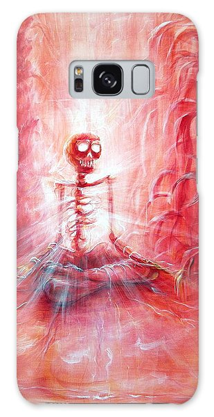 Red Skeleton Meditation Galaxy Case