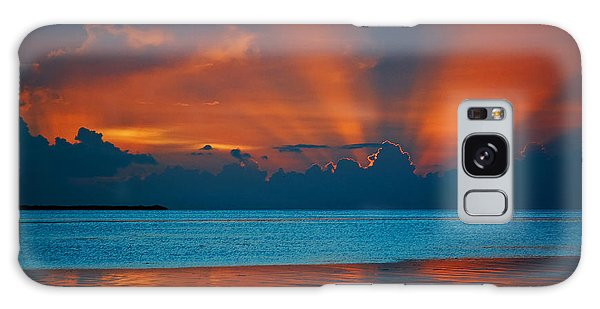 Tropical Florida Keys Red Sky At Night Galaxy Case