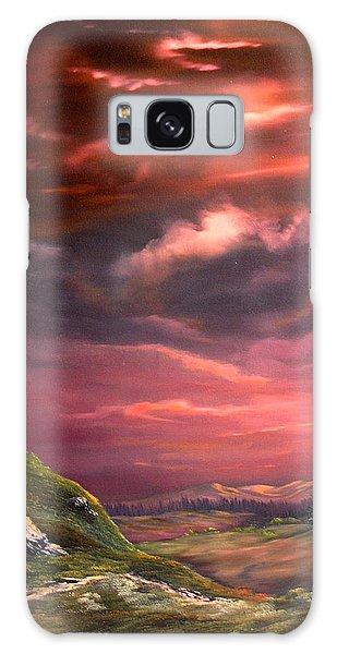 Crossbill Galaxy S8 Case - Red Sky At Night by Jean Walker