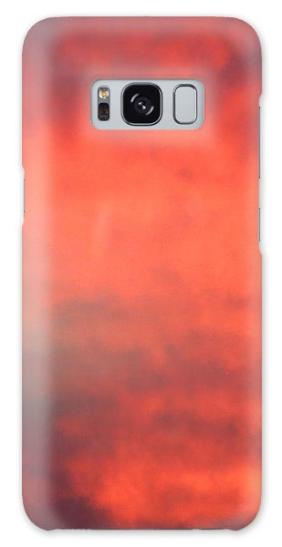 Red Sky At Night Galaxy Case by Laurel Powell