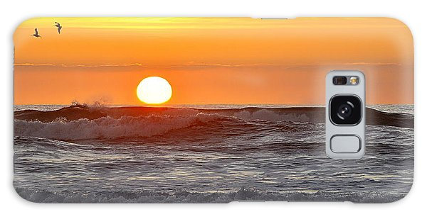 Red Sky At Night Sailors  Delight Galaxy Case