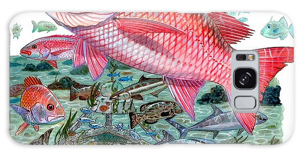 Mangrove Snapper Galaxy Case - Red Snapper by Carey Chen