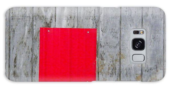 Red Square On A Wall Galaxy Case