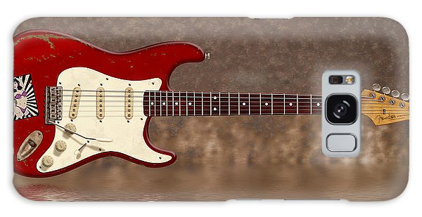 Red Strat 3 Galaxy Case by WB Johnston