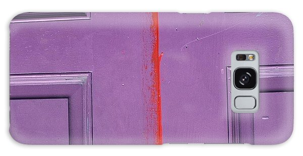 Red Stripe Galaxy Case by Peggy Stokes