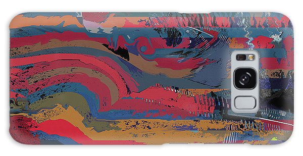 Red Stripes Galaxy Case by David Klaboe