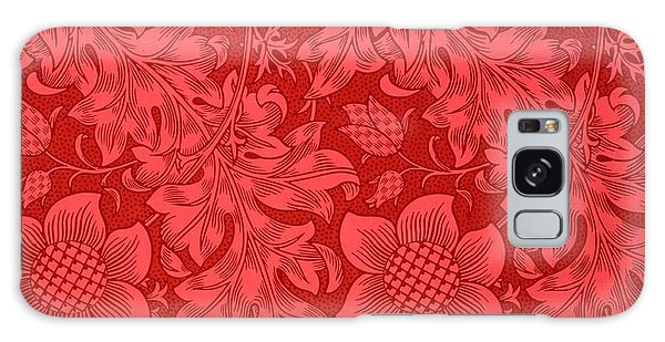Co Galaxy S8 Case - Red Sunflower Wallpaper Design, 1879 by William Morris