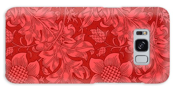 Red Sunflower Wallpaper Design, 1879 Galaxy Case