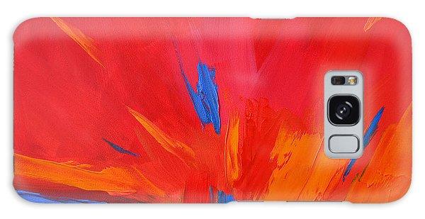 Red Sunset, Modern Abstract Art Galaxy Case
