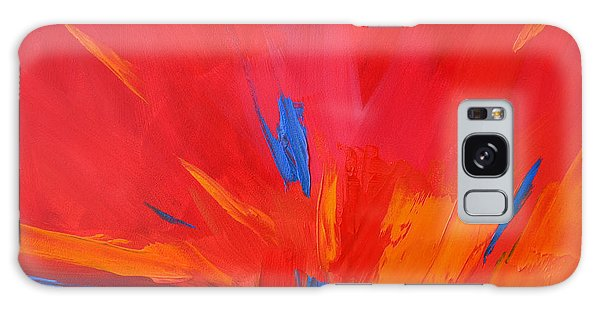 Red Sunset, Modern Abstract Art Galaxy Case