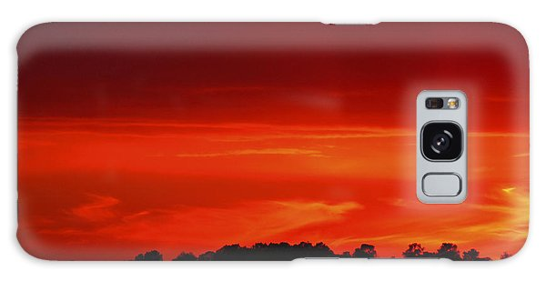 Red Sunset Galaxy Case by Debra Crank