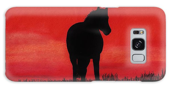 Red Sunset Horse Galaxy Case