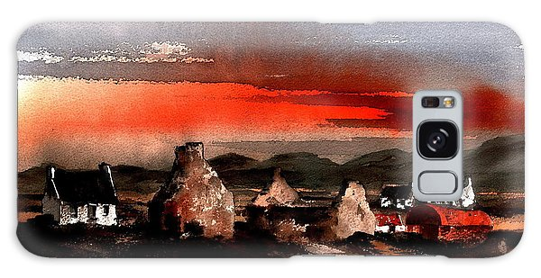 Cottage Galaxy Case - Red Sunset In The West by Val Byrne