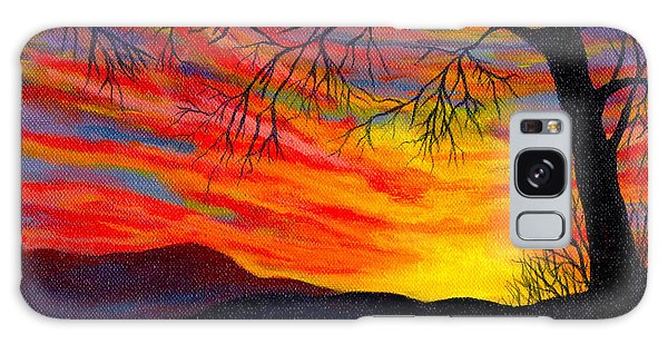 Red Sunset Galaxy Case