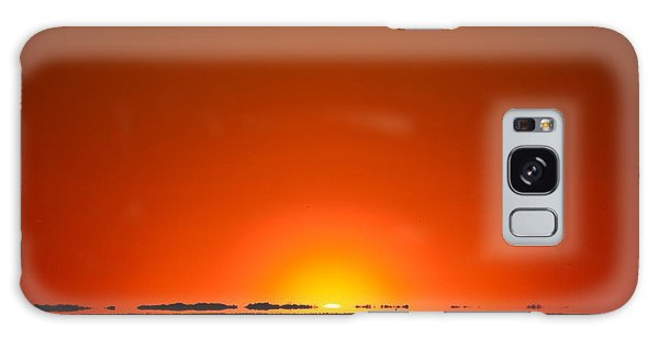 Red Sunset With Superior Mirage On Santa Rosa Sound Galaxy Case by Jeff at JSJ Photography